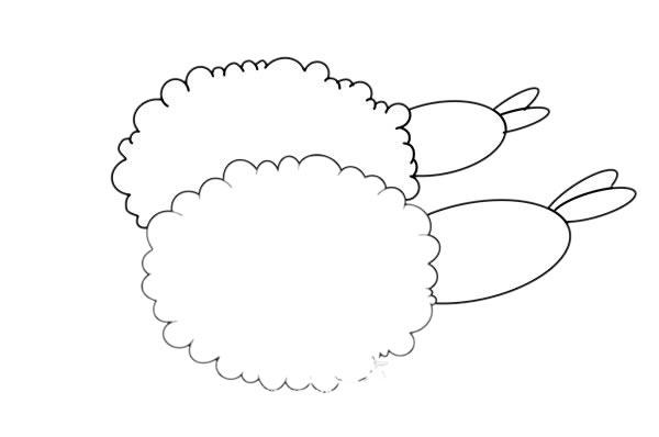 炸虾球简笔画画法步骤图片