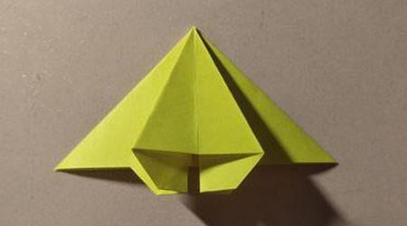三角书签的折法图解 手工折纸-第9张