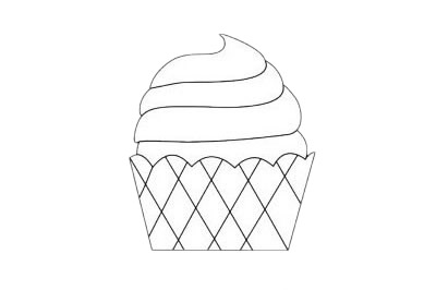 蛋糕简笔画图片