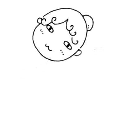 服务员儿童简笔画图片 中级简笔画教程-第3张