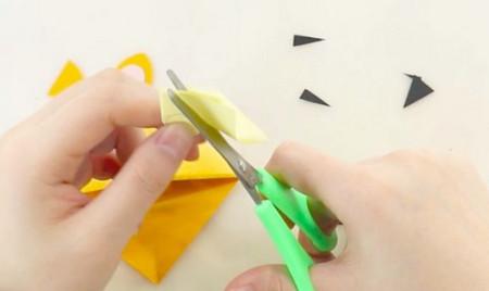 老虎书签的手工折纸图解步骤 手工折纸-第6张