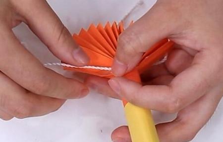 伸缩扇子的折法图解 手工折纸-第19张
