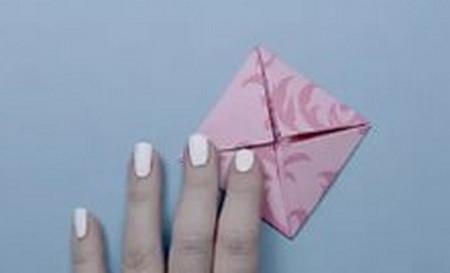 荷花怎么折简单又漂亮教程 手工折纸-第6张