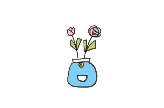 植物盆栽简笔画图画带颜色 中级简笔画教程-第6张