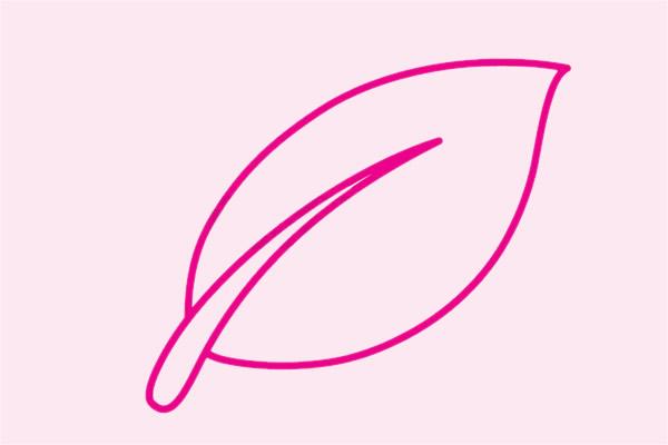 教小朋友画简单的树叶简笔画 初级简笔画教程-第3张