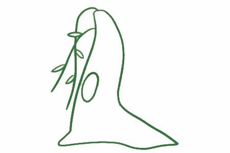 柳树简笔画的画法,简单的柳树画法 初级简笔画教程-第3张