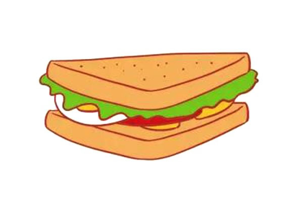 三明治简笔画