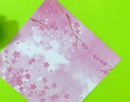 冰淇淋折纸步骤图解法 手工折纸-第2张