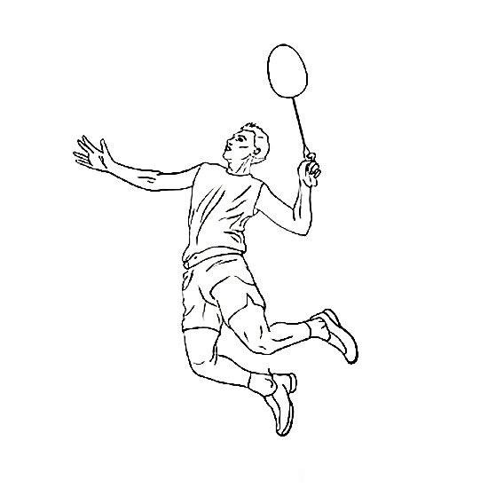 羽毛球运动员简笔画组图 中级简笔画教程-第2张