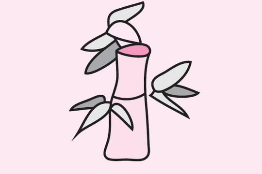 竹子简笔画的画法步骤 植物-第9张