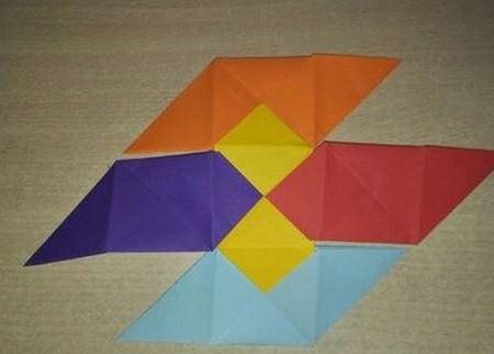彩色立方体折纸教程 手工折纸-第11张