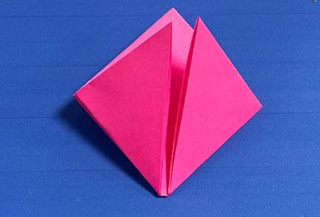 花骨朵折纸的折法图解 手工折纸-第4张
