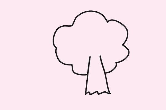 大树简笔画_大树画法步骤简单又好看 初级简笔画教程-第7张