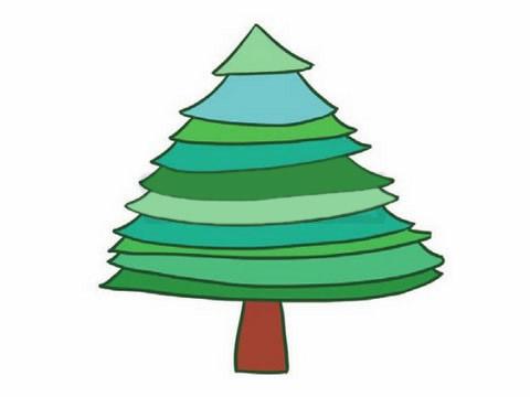 教小朋友画简单的松树简笔画 初级简笔画教程-第7张