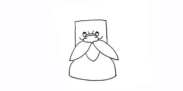 树爷爷画法步骤 卡通树爷爷简笔画彩色画法步骤图教程 植物-第7张