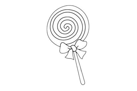 棒棒糖简笔画图片