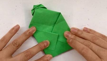 树叶信封折纸的折法图解 手工折纸-第7张