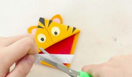 老虎书签的手工折纸图解步骤 手工折纸-第7张