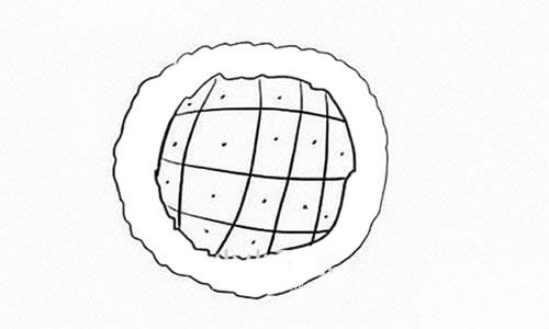 向日葵简笔画步骤图解教程 植物-第3张