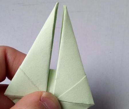 小兔子笔帽儿童手工折法图解 手工折纸-第6张