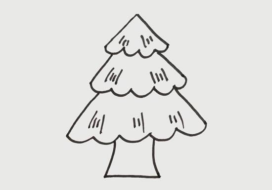 松树儿童简笔画画法教程 中级简笔画教程-第4张