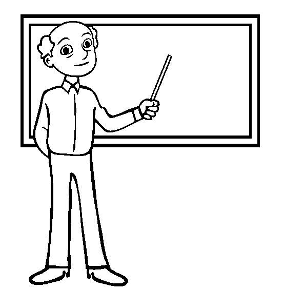 4款老师讲课简笔画图片 人物-第1张