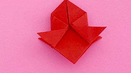 折纸樱桃步骤图解法 手工折纸-第7张