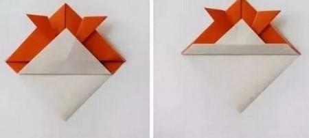 小鱼折纸步骤图解 手工折纸-第4张