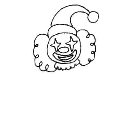 马戏团小丑简笔画图片 人物-第3张