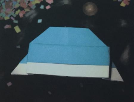 儿童手工折纸飞碟怎么折 手工折纸-第1张