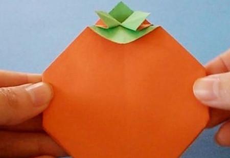 柿子折纸步骤图解 手工折纸-第7张
