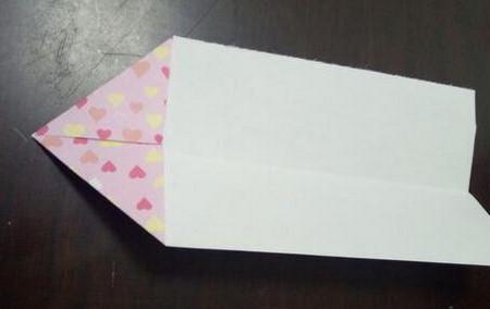 爱心笔帽的折法图解 手工折纸-第4张
