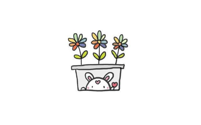 植物盆栽简笔画图画带颜色 中级简笔画教程-第5张