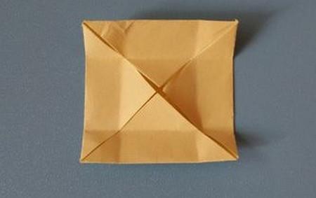 小椅子折纸步骤图解 手工折纸-第5张