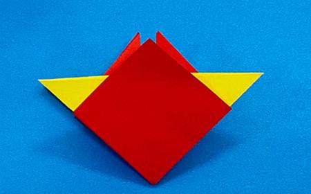 立体无限翻转手工折纸图解 手工折纸-第5张