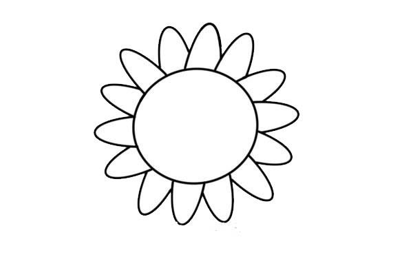 简单易学的向日葵彩色简笔画 初级简笔画教程-第3张