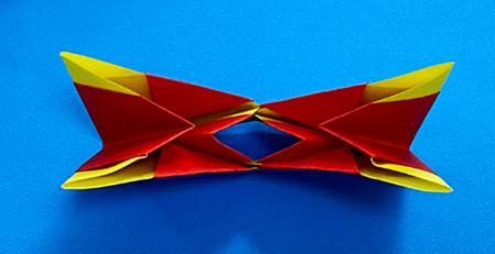 立体无限翻转手工折纸图解 手工折纸-第8张