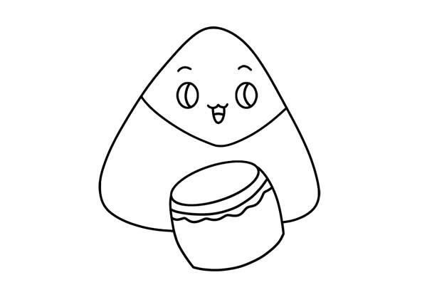 端午节卡通粽子简笔画彩色画法