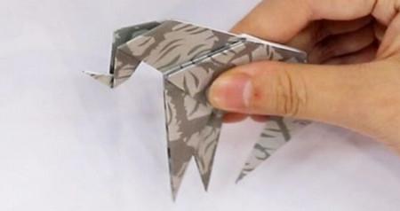 手工折纸大象的步骤图解 手工折纸-第6张