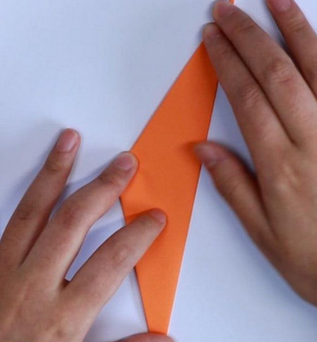 母鸡折纸步骤图解法 手工折纸-第3张