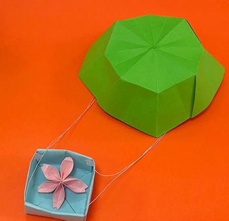 降落伞折纸方法图片大全 手工折纸-第1张