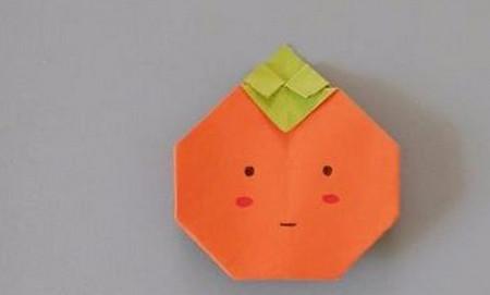 柿子折纸步骤图解 手工折纸-第1张