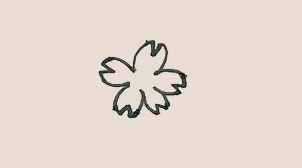 桃花简笔画的画法步骤图解教程 中级简笔画教程-第4张