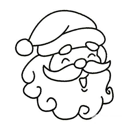 教小朋友画圣诞老人简笔画 中级简笔画教程-第1张