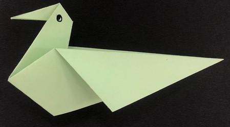 折纸鸽子的折法图解 手工折纸-第1张