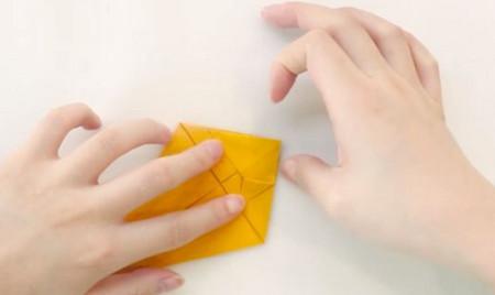 小猫立体折纸步骤图解法 手工折纸-第5张