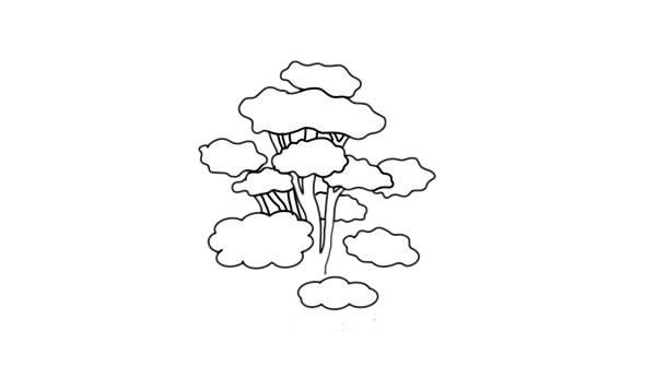 彩色柞树简笔画的画法步骤教程 中级简笔画教程-第5张