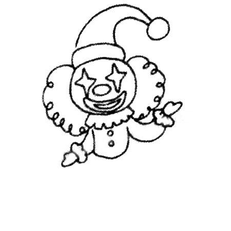 马戏团小丑简笔画图片 人物-第4张