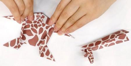 长颈鹿儿童手工折纸步骤图详解 手工折纸-第11张