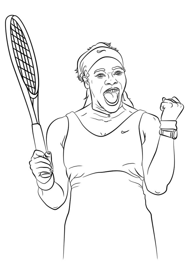 网球运动员简笔画图片大全 人物-第3张